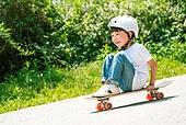 한국인, 어린이 (인간의나이), 초등학생, 유치원생, 스케이트보드, 스케이트보딩, 여름방학, 방학, 순수