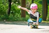 한국인, 어린이 (인간의나이), 초등학생, 유치원생, 스케이트보드, 스케이트보딩, 여름방학, 방학, 플레이 (움직이는활동)