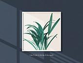 프레임, 인테리어, 액자 (예술도구), 미니멀라이프 (컨셉), 반려식물, 그림자