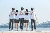 십대 (인간의나이), 어깨동무, 교복, 미소, 밝은표정, 고등학생, 학교생활, 희망, 미래