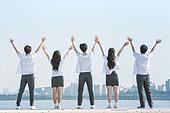 십대 (인간의나이), 교복, 미소, 밝은표정, 고등학생, 학교생활, 계단