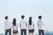 십대 (인간의나이), 교복, 미소, 밝은표정, 고등학생, 학교생활, 희망, 미래, 응시 (감각사용)