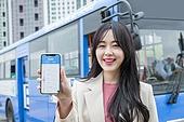 버스, 스마트폰, 모바일앱 (인터넷)