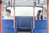 커플, 버스, 미소, 기대 (컨셉)