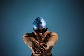 수영 (수상스포츠), 선수, 시작 (컨셉), 포즈 (몸의 자세)