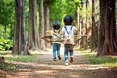 한국인, 어린이 (인간의나이), 초등학생, 유치원생, 꿈같은 (컨셉), 상상력, 소년 (남성), 여름방학, 방학, 유아교육, 행복, 행복 (컨셉)