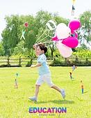 그래픽이미지, 브로슈어, 어린이 (인간의나이), 장난치기 (감정), 공부 (움직이는활동), 일러스트, 방학, 초등학생, 가르치는 (움직이는활동), 소년, 공원, 달리기 (물리적활동), 풍선
