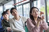 대중교통 (운수), 버스, 출퇴근, 사회이슈, 예절 (컨셉), 색조화장 (화장품)