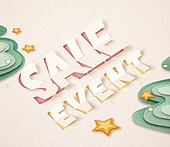Cut Or Torn Paper (이미지테크닉), Paper Craft (이미지테크닉), 타이포그래피 (문자), 축하이벤트 (사건), 상업이벤트 (사건), 쇼핑 (상업활동)