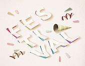 Cut Or Torn Paper (이미지테크닉), Paper Craft (이미지테크닉), 타이포그래피 (문자), 축하이벤트 (사건), 상업이벤트 (사건), 쇼핑 (상업활동), 음악축제 (엔터테인먼트이벤트)
