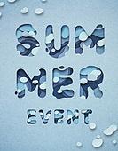 Cut Or Torn Paper (이미지테크닉), Paper Craft (이미지테크닉), 타이포그래피 (문자), 축하이벤트 (사건), 상업이벤트 (사건), 여름
