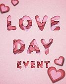 페이퍼아트, 타이포그래피 (문자), 축하이벤트 (사건), 상업이벤트 (사건), 사랑 (컨셉), 하트