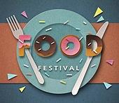 Cut Or Torn Paper (이미지테크닉), Paper Craft (이미지테크닉), 타이포그래피 (문자), 축하이벤트 (사건), 상업이벤트 (사건), 음악축제 (엔터테인먼트이벤트), 음식, 도넛