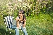 공원, 휴식, 소풍 (아웃도어), 라이프스타일, 싱글라이프 (주제), 성인여자 (여성)