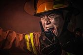 한국인, 소방관, 소방관 (응급서비스직업), 방화, 불, 사고, 사고재해, 불길, 고함 (말하기)