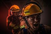 한국인, 소방관, 소방관 (응급서비스직업), 방화, 불, 사고, 불길, 고함 (말하기)