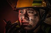 한국인, 소방관, 소방관 (응급서비스직업), 방화, 불, 사고재해 (주제), 사고, 사고재해, 긴급 (컨셉), 불길, 구출, 구출 (컨셉)