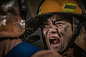 한국인, 소방관, 소방관 (응급서비스직업), 방화, 불, 사고재해 (주제), 사고, 사고재해, 긴급 (컨셉), 불길, 구출, 구출 (컨셉), 동료 (역할), 팀워크 (협력)