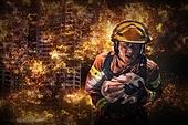 소방관, 불, 사고재해, 사고, 불길, 구출, 탈출