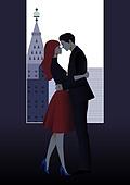 커플, 평면 (물체묘사), 상업이벤트 (사건), 쇼핑 (상업활동), 포옹, 키스