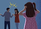 이혼, 헤어짐, 문제 (컨셉), 싸움 (물리적활동), 부부, 갈등, 소녀 (여성), 뒷모습, 소음