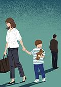 이혼, 부부, 헤어짐, 갈등, 문제 (컨셉), 어린이 (인간의나이)