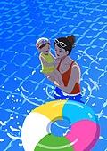 호캉스, 호텔, 휴가, 여름, 휴가 (주제), 수영장, 아기 (인간의나이), 엄마