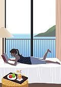 호캉스, 호텔, 휴가, 여름, 휴가 (주제), 혼자여행 (여행), 여성 (성별), 싱글라이프 (주제), 책