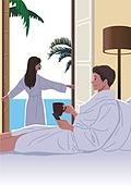 호캉스, 호텔, 휴가, 여름, 휴가 (주제), 커플, 부부, 신혼부부, 야자나무 (열대나무)