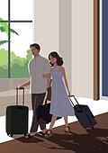 호캉스, 호텔, 휴가, 여름, 휴가 (주제), 커플, 부부, 신혼부부, 여행가방 (짐)