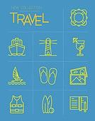 아이콘, 아이콘세트 (아이콘), 라인아이콘, 여행, 휴가, 해외, 휴가 (주제), 지도, 여름