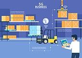 5G, 기술, 4차산업혁명 (산업혁명), 통제 (컨셉), 비즈니스, 화물컨테이너 (산업장비), 상자 (용기)
