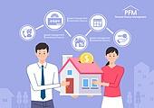 자산관리, 프로젝트 (컨셉), 부귀 (컨셉), 컨설턴트, 적금, 저축, 집 (주거건물), 부부, 신혼부부 (부부)