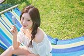 여름, 아이스크림, 디저트, 공원, 한국인