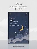 템플릿 (유저인터페이스), 모바일백그라운드, 백그라운드, 날씨, 모바일템플릿 (웹모바일), 구름, 밤 (시간대)