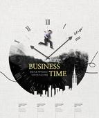 모노톤 (색조이미지), 비즈니스, 포스터, 실루엣, 편집디자인, 성공, 시계