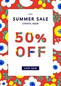 포스터, 축하이벤트 (사건), 상업이벤트 (사건), 여름, 세일 (사건), 쇼핑 (상업활동), 패턴, 프레임
