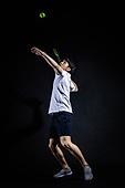 남성, 스포츠, 테니스 (라켓스포츠), 서브 (스포츠활동)