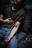 남성, 마약, 마약중독 (약물남용), 주사기, 과다