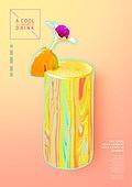 그래픽이미지, 포스터, 이벤트페이지, 상업이벤트 (사건), 디저트, 열대음료 (칵테일)