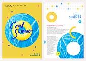그래픽이미지, 레이아웃, 브로슈어, 상업이벤트 (사건), 패턴, 형광색 (색상), 여름, 물놀이튜브 (부풀림)