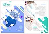 그래픽이미지, 레이아웃, 브로슈어, 상업이벤트 (사건), 패턴, 형광색 (색상), 여름, 비키니, 수영복