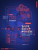 포스터, 신기술, 4차산업혁명 (산업혁명), 연결 (컨셉), 컴퓨터네트워크, 편집디자인, 비즈니스