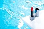 아크릴, 색상, 컬러, 화장품 (몸단장제품), 스킨케어, 탑앵글, 파랑, 물결, 립스틱, 색조화장