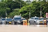 도시풍경 (도시), 서울 (대한민국), 여름, 폭염, 뜨거움 (컨셉), 날씨, 폭염 (자연현상), 여름 (계절), 아지랑이, 택시