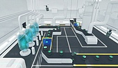 3d, 그래픽이미지, 합성 (Computer Graphics), 공장 (산업용건물), 산업장비 (장비), 제조 (움직이는활동), 생산라인 (공장), 4차산업혁명 (산업혁명)