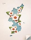 종이 (재료), 페이퍼아트, 광복절 (한국기념일), 대한민국 (한국), 애국심 (주제), 무궁화, 꽃, 한반도지형 (한국지명)