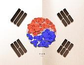 종이 (재료), 페이퍼아트, 광복절 (한국기념일), 대한민국 (한국), 애국심 (주제), 태극기