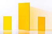 오브젝트 (묘사), 컬러, 색상, 강렬한색채, 아크릴, 투영, 주황, 노랑색 (색상), 주황배경, 노랑배경, 백그라운드