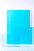 오브젝트 (묘사), 컬러, 색상, 강렬한색채, 아크릴, 투영, 밝은청색 (파랑), 백그라운드